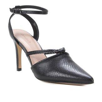 Scarpin Couro Shoestock Cobra Sensation Salto Alto