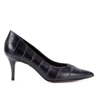 Scarpin Couro Shoestock Elástico Salto Alto
