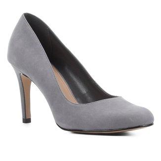 Scarpin Couro Shoestock Nobuck Salto Alto