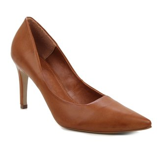 Scarpin Couro Shoestock Salto Alto Atanado Graciela