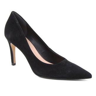 Scarpin Couro Shoestock Salto Alto Graciela Nobuck