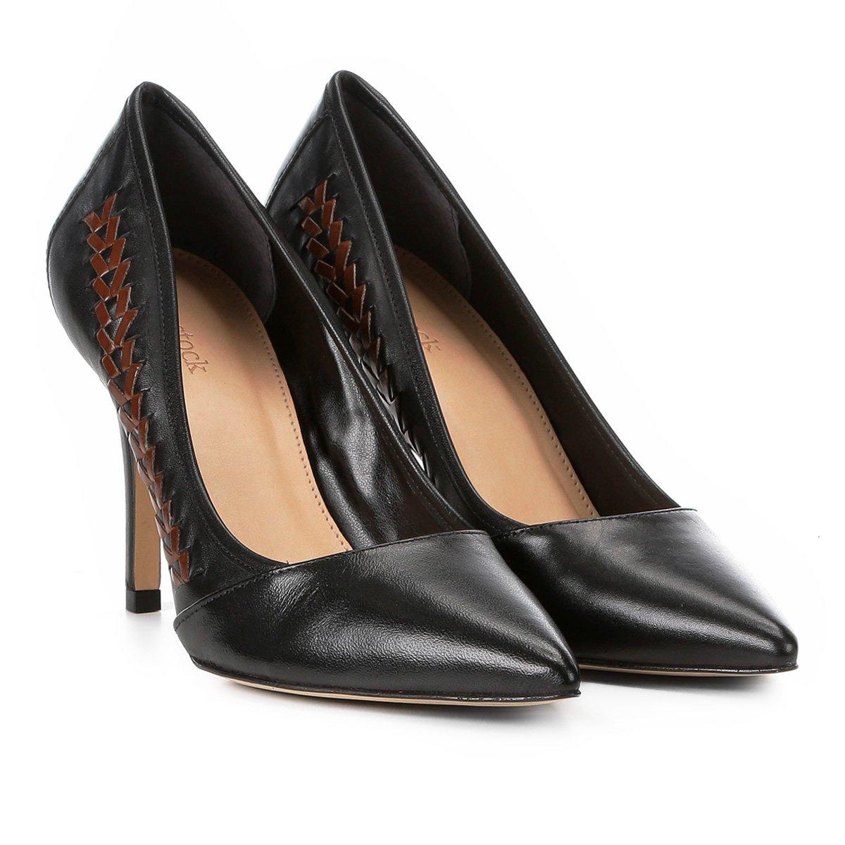 a7d6a8ca42918 Scarpin Couro Shoestock Salto Alto Handmade | Shoestock