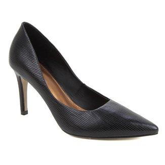 Scarpin Couro Shoestock Salto Alto Tressê