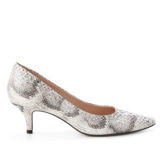 Scarpin Couro Shoestock Salto Baixo Cobra Feeling