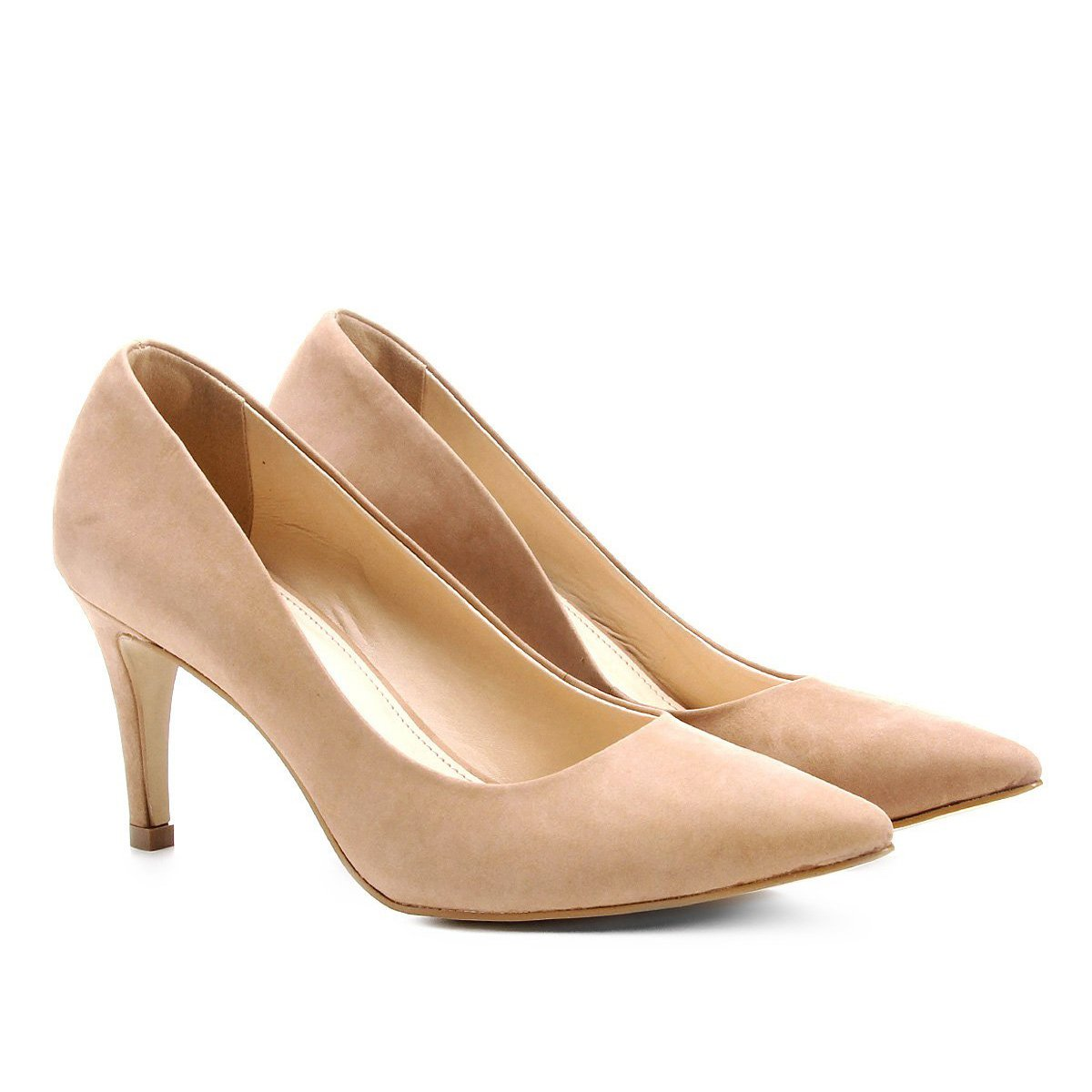 3f175039d Scarpin Couro Shoestock Salto Médio | Shoestock