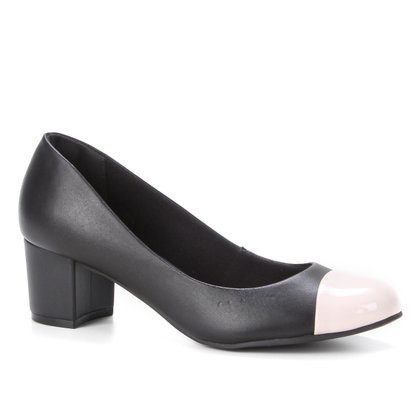 Scarpin Shoestock Bico Redondo Salto Médio