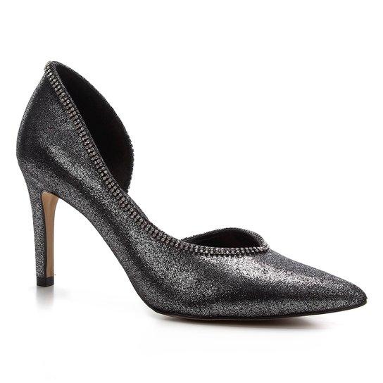 Scarpin Shoestock Glam Salto Alto Noiva - Prata