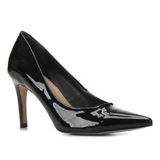 Scarpin Shoestock Graciela Salto Alto Bico Fino Verniz