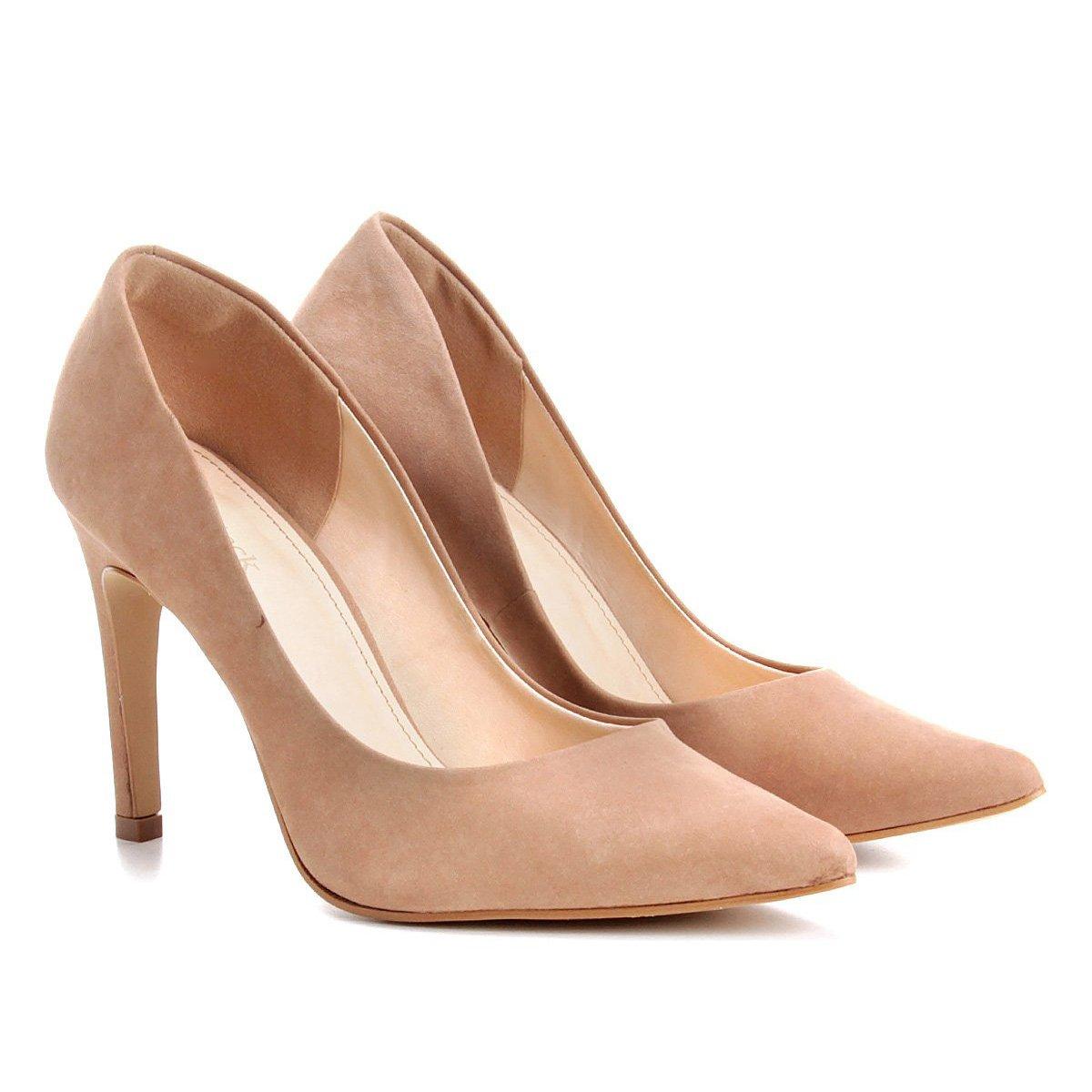 f1acb780a Scarpin Shoestock Salto Alto Bico Fino - Nude | Shoestock