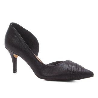 Scarpin Shoestock Salto Alto Plissado