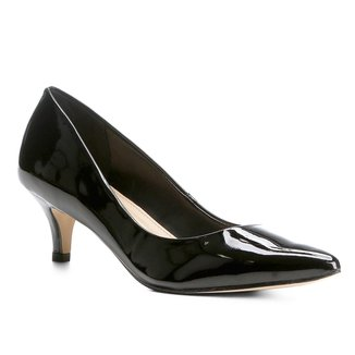 Scarpin Shoestock Salto Baixo Verniz