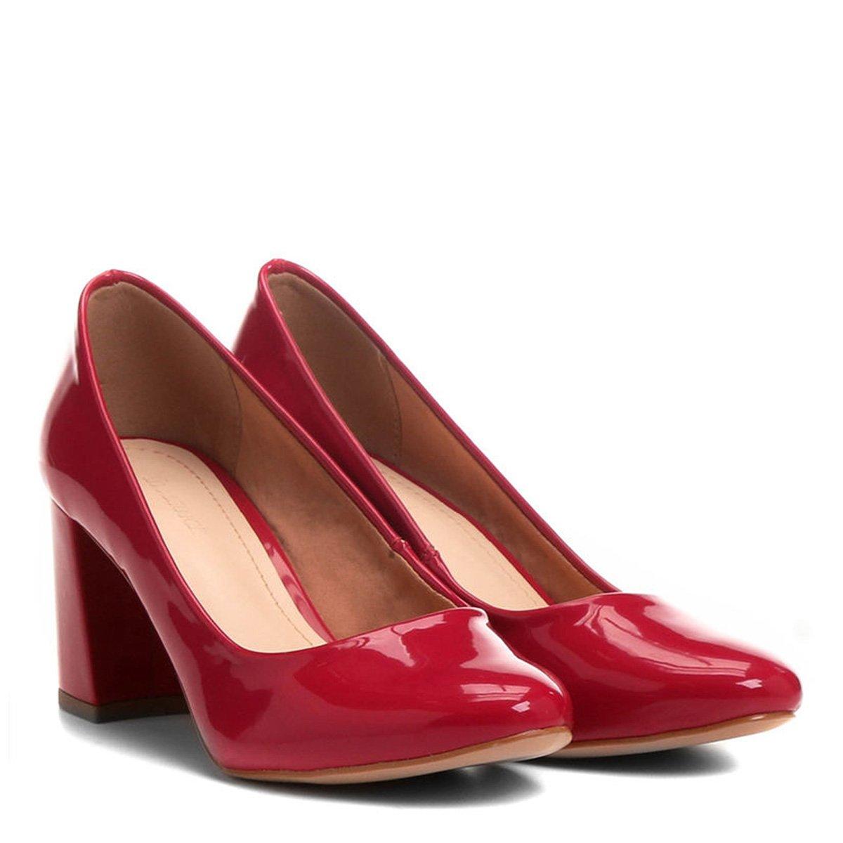 5ef5937560 ... a79b5e349 Scarpin Shoestock Salto Grosso - Compre Agora ...