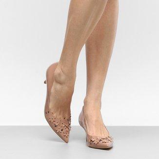 Scarpin Shoestock Salto Médio Flores