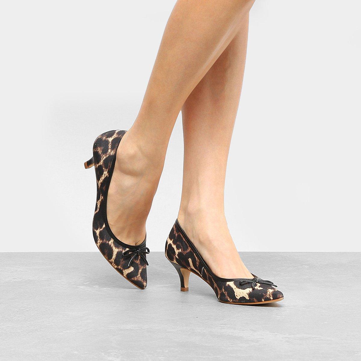 e3ad7aa733 Scarpin Shoestock Salto Médio Laço - Compre Agora