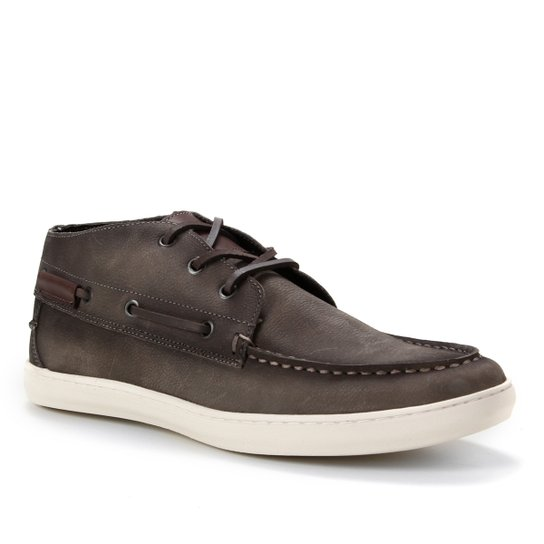 Sider Couro Shoestock Stoned Masculino - Cinza
