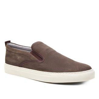Slip On Couro Shoestock Camurça