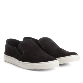 Slip On Couro Shoestock Nobuck Masculino