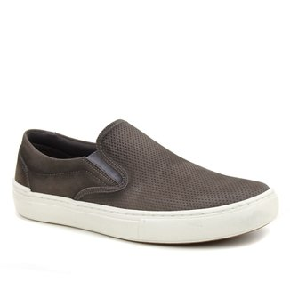 Slip On Couro Shoestock Stoned Masculino