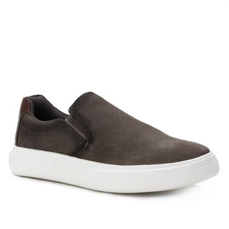 Slip On Couro Shoestock Suede Masculino