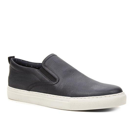 Slip On Couro Shoestock - Preto