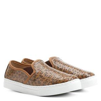Slip On Shoestock Bordado Onça