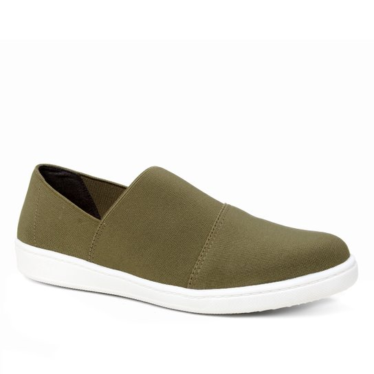 Slip On Shoestock Elástico Feminino - Verde