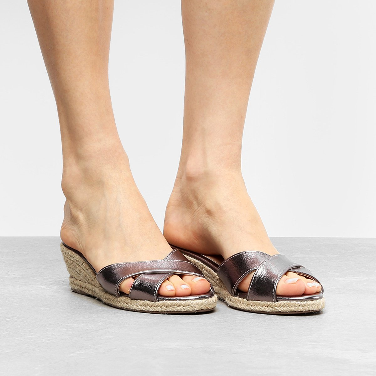 b1a1c62f3b Tamanco Anabela Shoestock Corda - Compre Agora