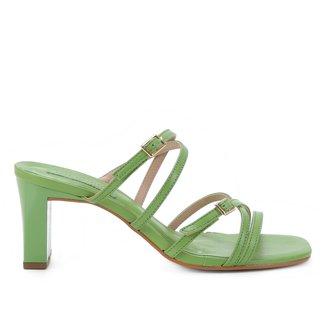 Tamanco Couro Shoestock Salto Grosso Tiras
