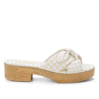 Tamanco Shoestock Clog Xadrez Vichy Laço