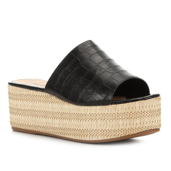Tamanco Shoestock Flatform Slide - Preto