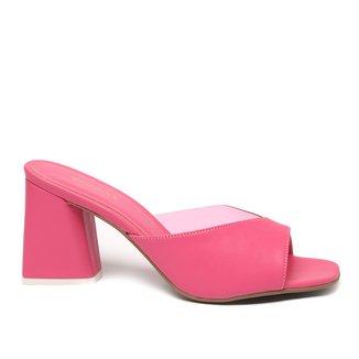 Tamanco Shoestock Lila Vinil Salto Bloco