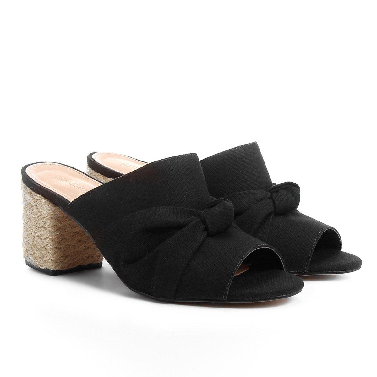 1aadbf628 Tamanco Shoestock Salto Grosso Nó Feminino - Compre Agora
