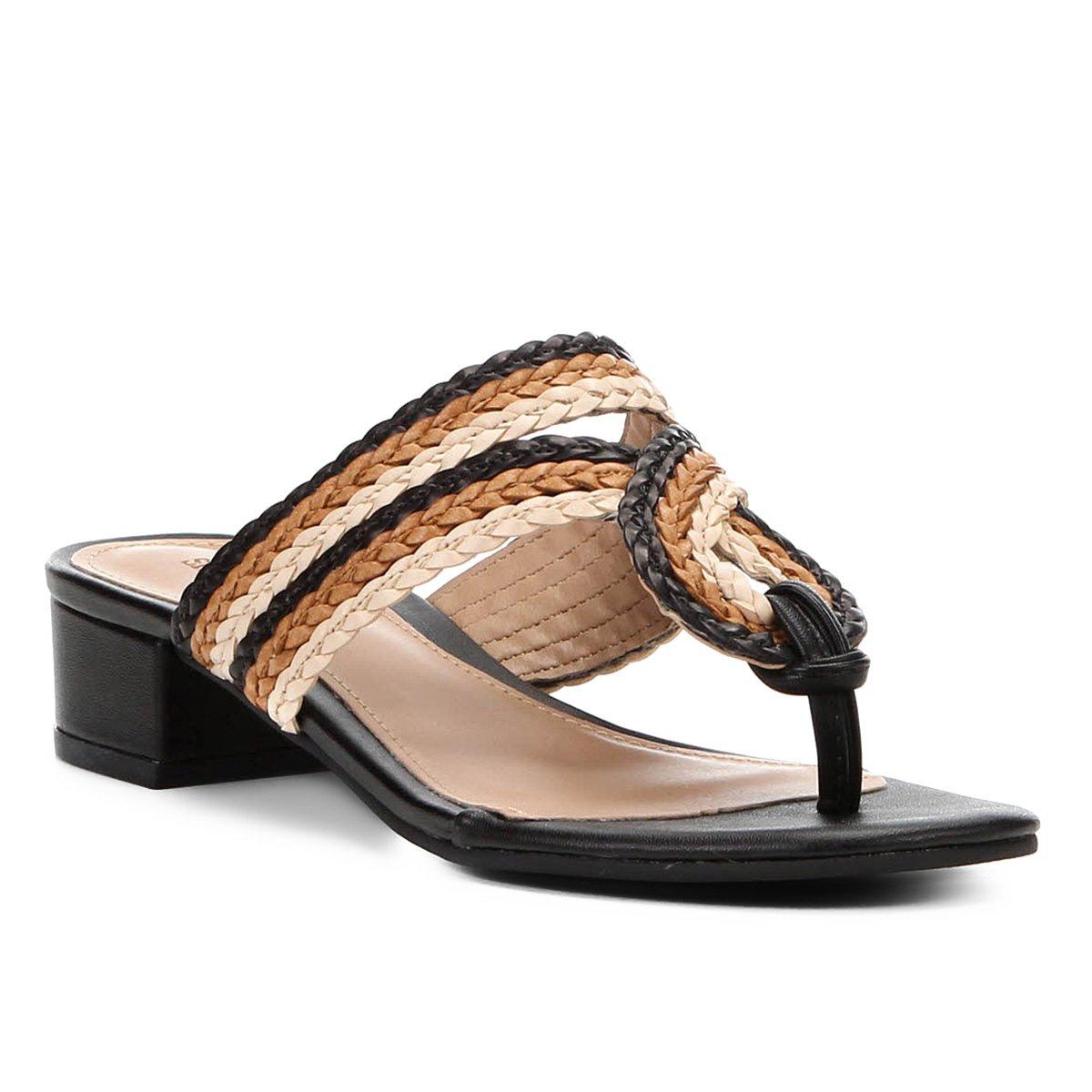 f539f44846 Tamanco Shoestock Trançado Nó Feminino