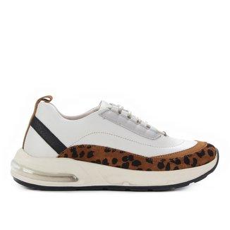 Tênis Couro Shoestock Air Pelo Onça Feminino