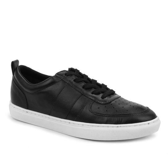 Tênis Couro Shoestock Basic Comfy Feminino - Preto