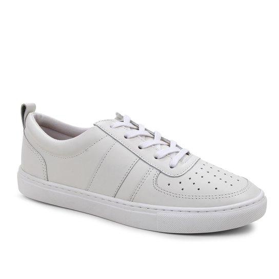 Tênis Couro Shoestock Basic Comfy Feminino - Branco