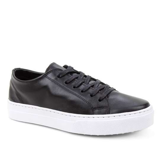 Tênis Couro Shoestock Basic Sem Forro Feminino - Preto