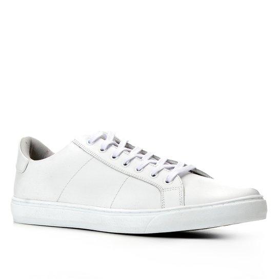Tênis Couro Shoestock Básico Amarração - Branco