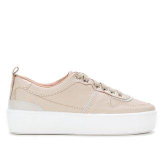 Tênis Couro Shoestock Bicolor Feminino