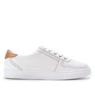 Tênis Couro Shoestock Brogues Feminino