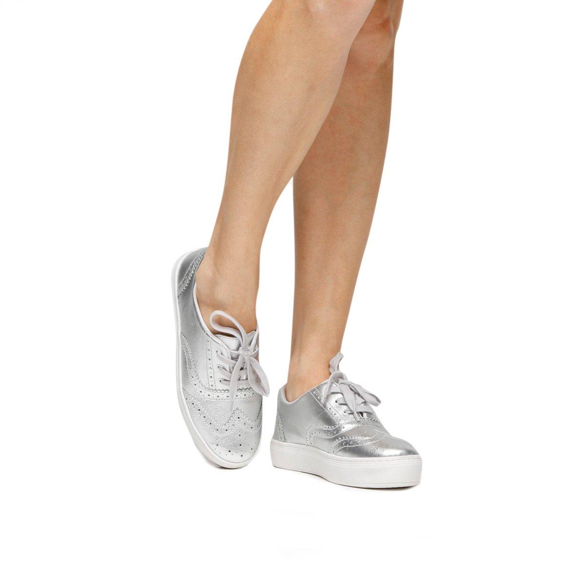 362b1c695b Tênis Couro Shoestock Brogues Feminino - Compre Agora