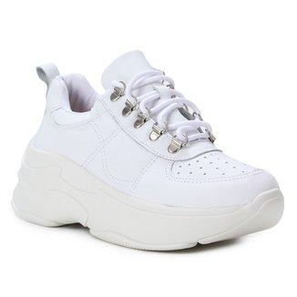 Tênis Couro Shoestock Chunky Feminino
