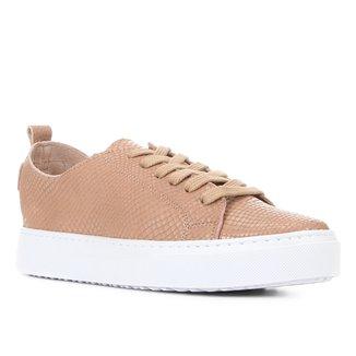 Tênis Couro Shoestock Cobra Sem Forro Feminino