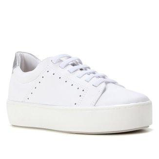 Tênis Couro Shoestock Comfy Cadarço Elástico Feminino