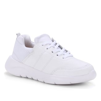 Tênis Couro Shoestock Comfy Elástico Feminino