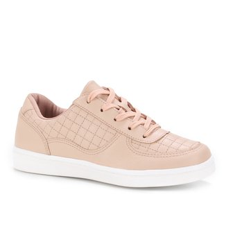 Tênis Couro Shoestock Comfy Matelassê Feminino