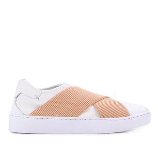 Tênis Couro Shoestock Elástico Básico Feminino