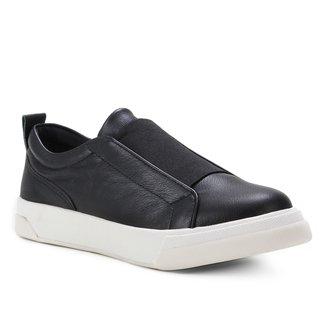 Tênis Couro Shoestock Elástico Feminino