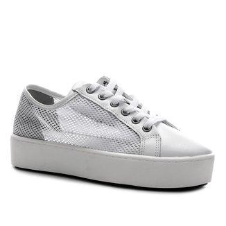 Tênis Couro Shoestock Flatform Tela Feminino