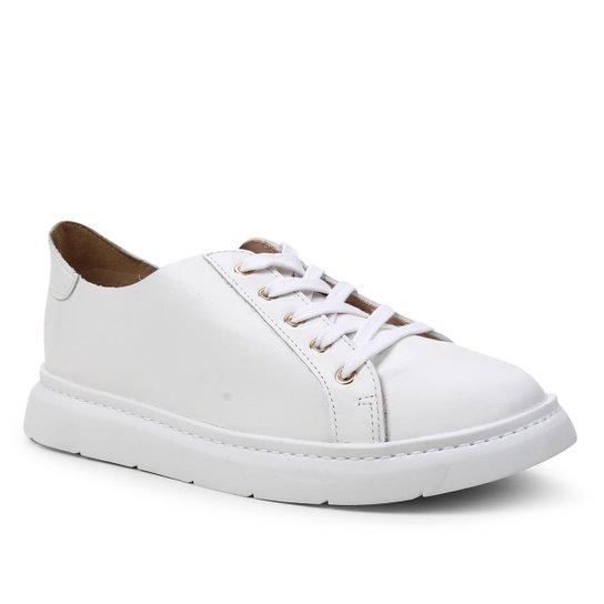 Tênis Couro Shoestock For You Sem Forro Feminino - Branco